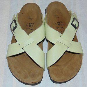 Birkenstock Birki's Mint Green Leather Sandals